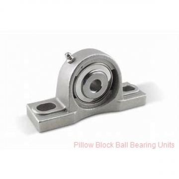 2.1875 in x 6.38 to 7.44 in x 2.22 in  Dodge P2BVSCB203 Pillow Block Ball Bearing Units