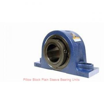 2 in x 6 to 6-11/16 in x 1-5/8 in  Dodge P2BLTB10200 Pillow Block Plain Sleeve Bearing Units