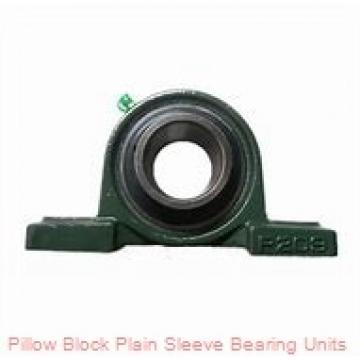 1-1/8 in x 4-1/4 to 5 in x 1-3/16 in  Dodge P2BLT10102 Pillow Block Plain Sleeve Bearing Units