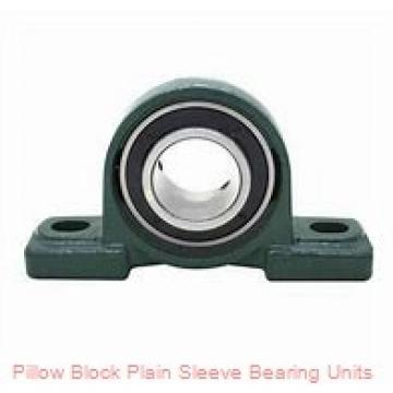 3/4 in x 3-31/64 to 3-59/64 in x 1 in  Dodge P2BPSEZ012P Pillow Block Plain Sleeve Bearing Units