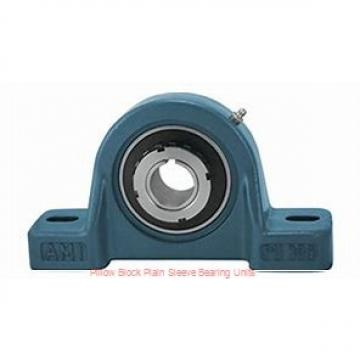 2-11/16 in x 7-15/16 to 8-9/16 in x 5-1/2 in  Dodge P4BBAA211 Pillow Block Plain Sleeve Bearing Units