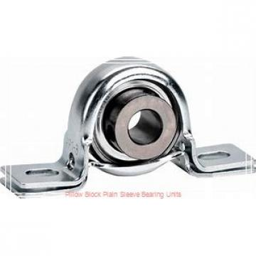 1-3/8 in x 4-11/16 to 5-7/16 in x 1-5/16 in  Dodge P2BLT10106 Pillow Block Plain Sleeve Bearing Units
